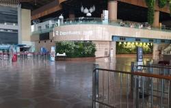김포공항 국제선 출국장의 텅 빈 모습