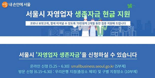 서울시 자영업자 생존자금 신청이 25일부터 시작됐다.