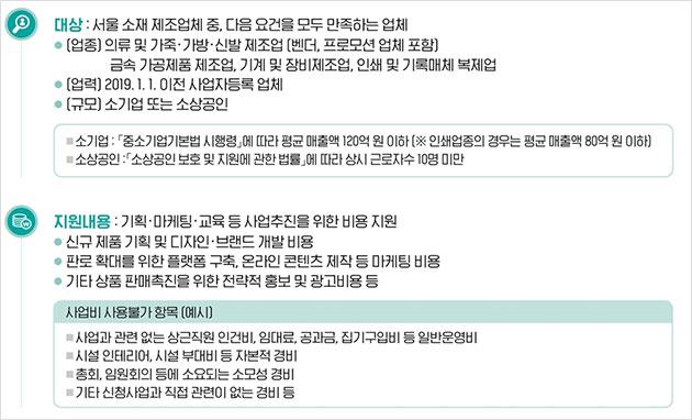 '서울시 소규모 도시제조업 긴급자금' 대상·지원내용