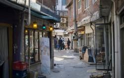 올해 새롭게 골목길 재생을 시작하는 해방촌 신흥시장 주변 골목길