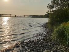 한강에서 즐거운 시간을 보내면서 시민들이 행복과 위안을 얻고 있다