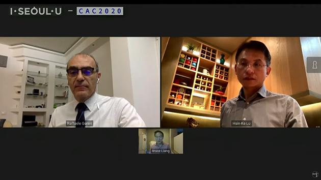 해외국가‧도시별 사례 발표에 참여한 패널들. 라파엘 가레리(Raffaele Gareri), 흐신케 루(Hsin-Ke Lu), 브루스 리앙(Bruce Liang)(왼쪽 상단부터 시계방향)