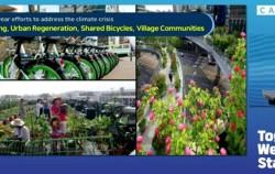 박원순 서울시장이 도시 환경의 새로운 패러다임 실천에 대해 이야기하고 있다.