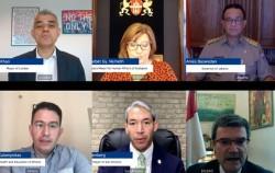 CAC 글로벌 서밋 2020 2일차 도시정부 시장회의 진행 모습