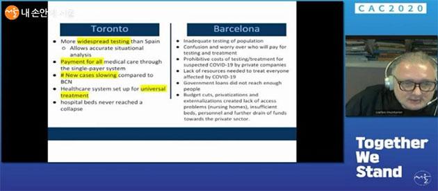 칼스 보넷 교수는 스페인 바르셀로나와 토론토 사례 발표를 했다.
