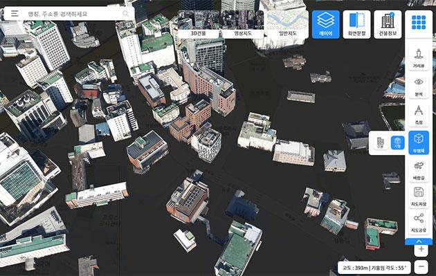 서울시가 3D를 통해 서울을 입체적으로 구현한 '디지털판 서울' S-Map을 공개한다