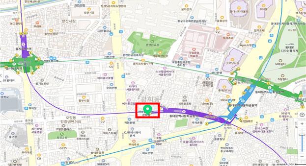 도시제조업 긴급자금 통합접수 지원센터 위치(서울인쇄센터 2층, 중구 마른내로140)