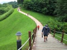 올림픽공원 몽촌토성 구불구불 산책로