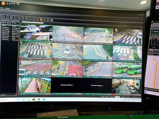 CCTV의 선명한 화질로 모니터링이 가능하다