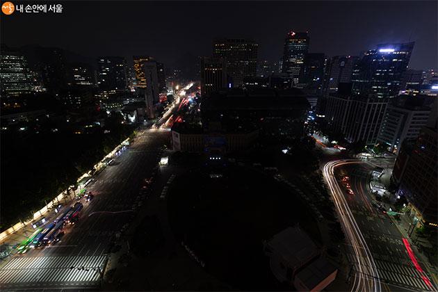 지난해 에너지의 날 서울광장 소등 행사