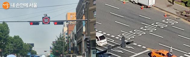 교통안전시설 설치는 주요도로는 서울시 도로사업소에서, 이면도로 등은 구청에서 시행한다.