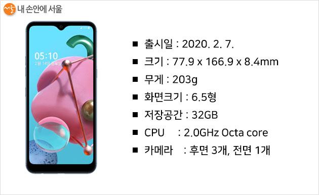 서울시 어르신 특화 스마트폰 요금제 대상기종 Q51 스펙