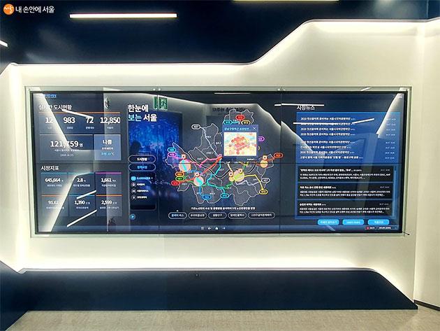 서울시 주요 현황을 한 눈에 보는 디지털 시민 시장실
