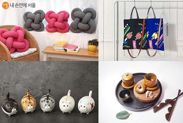 여성공예센터 '공예 라이브커머스–온택트 공예마켓' 판매 상품