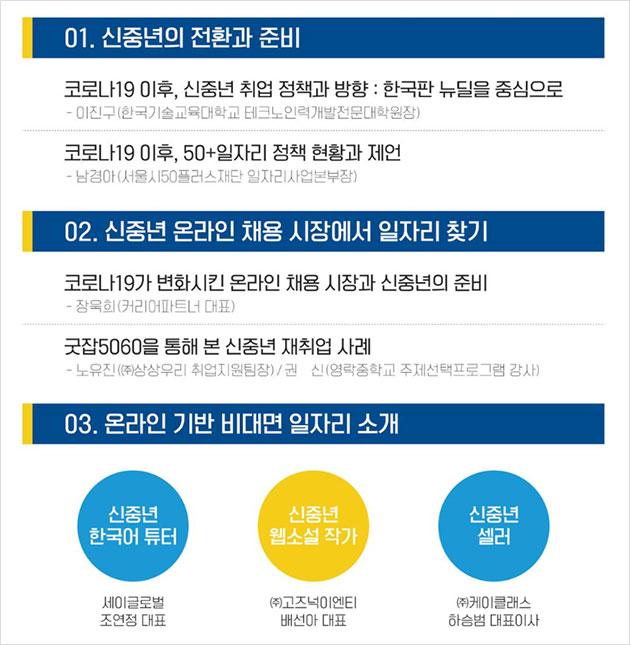 신중년 취업트렌드2020 주요 프로그램