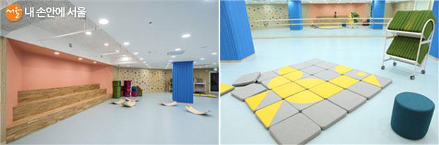 거점형 키움센터 지하 1층에 마련된 다목적 체육실