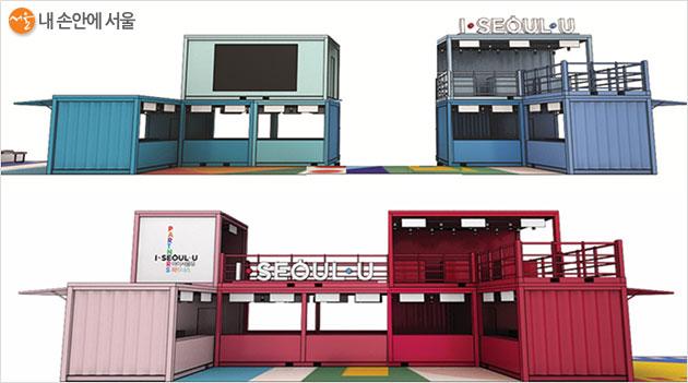 '아이서울유 팝업스토어', 대형 부스테이너 6개 동이 홍대 축제거리 약 70m 구간에 설치된다.
