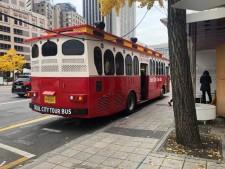 빨간색 트롤리버스를 타고 과거로 여행할 생각을 하니 설레기 시작했다