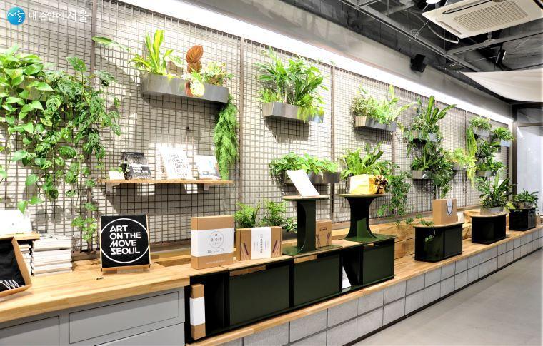 'LOUNGE 사이'는 '그린' 테마의 인테리어와 쾌적한 공기질을 개선한 실내 환경을 구축하였다 ⓒ조수봉