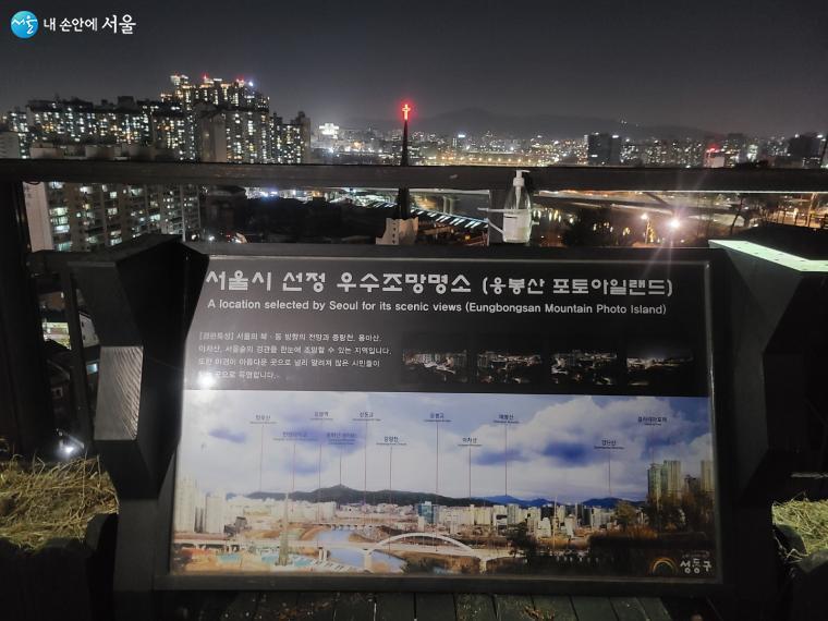 응봉산은 대표적인 서울 야경 명소로 사진찍기 좋은 곳으로 꼽힌다.