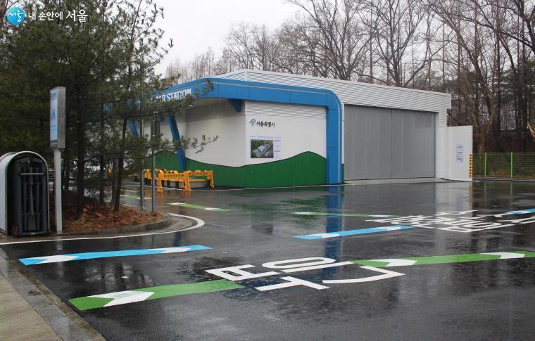 양재수소충전소 전경