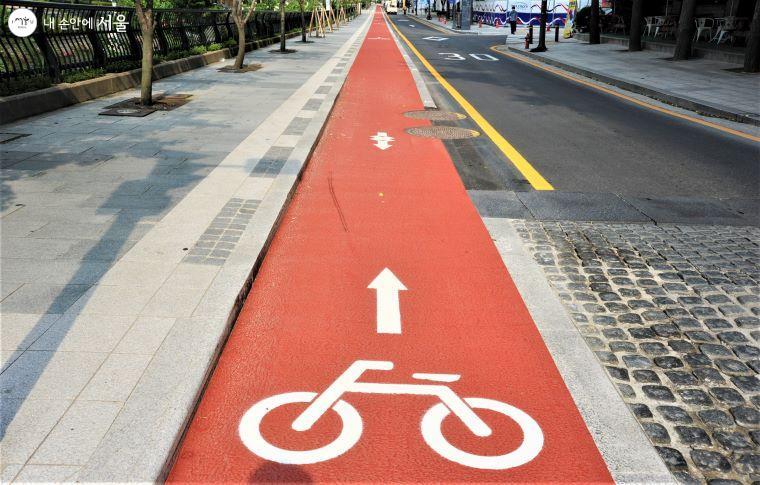 자전거 전용도로는 차도와 마찬가지로 역주행을 할 수 없다.