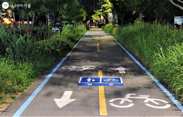 '경춘선숲길'에는 철로변 산책로 외에도 자전거도로와 산책 겸용도로가 조성되어 있다 ⓒ조수봉
